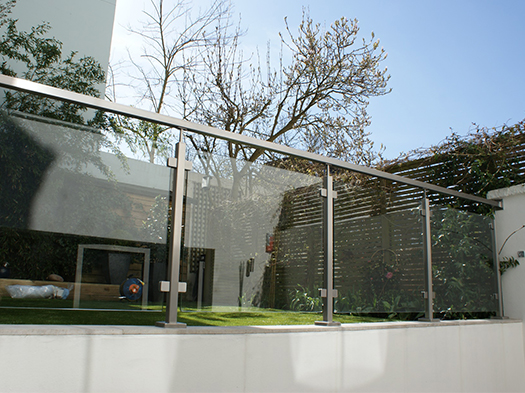 Stainless Steel Square Post Glass Balustrade - SHS Products