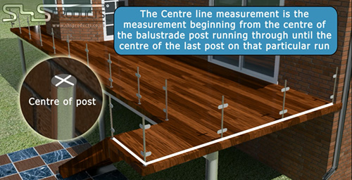 SHS Products - How to Measure a balustrade - centreline