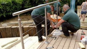ITV Love Your Garden - Alan Titchmarsh - SHS Products - Wire Rope Balustrade 4