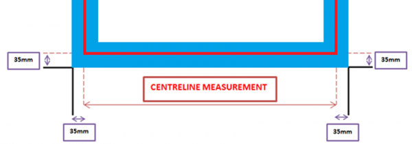 SHS Products - How to measure - Frameless centreline - gap