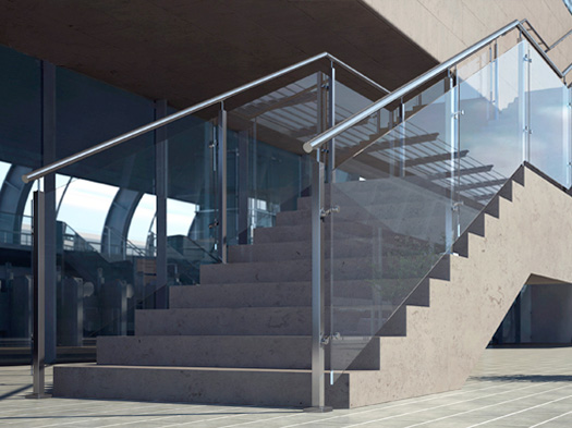 Pinion glass bannister