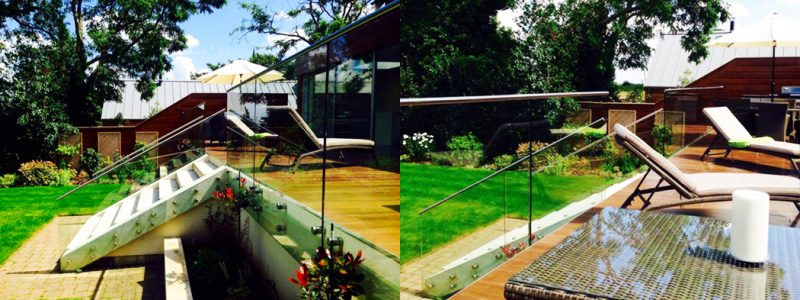SHS Products Glass Button Balustrade