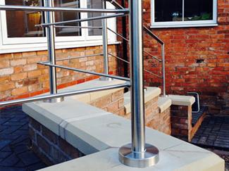Steel Rod Balustrade Satin Polish Finish