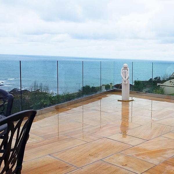 SHS Products Frameless Glass Balustrade on Stone Slabs