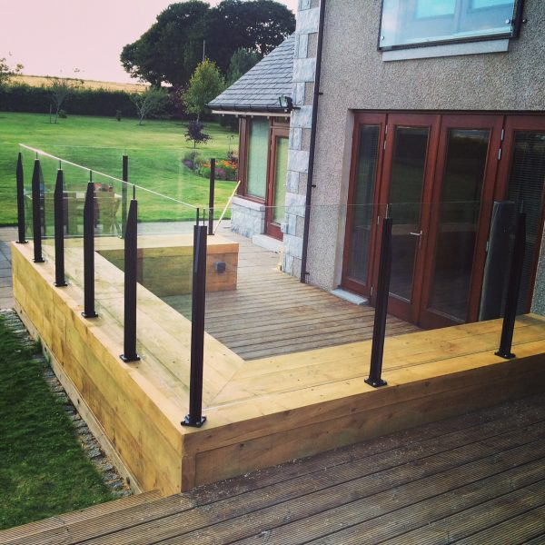 SHS Products Infinity Aluminium Glass Balustrade on Decking