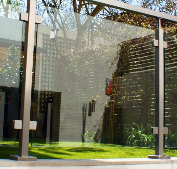 SHS Products - Stainless Handrail Systems - Square Tube Glass Balustrade in Garden