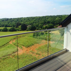 SHS Products - Frameless Glass Balustrade Stainless Steel Cladding