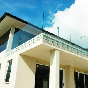 SHS Products - Balcony Side Fixed Glass Button Stainless Steel Balustrade