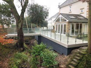 SHS Products - Elegance glass balustrade on decking