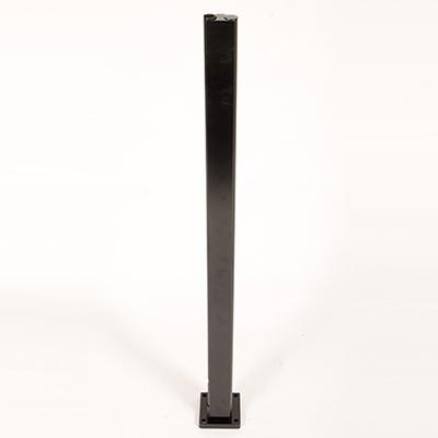 Infinity Glass Balustrade - End Post - Black