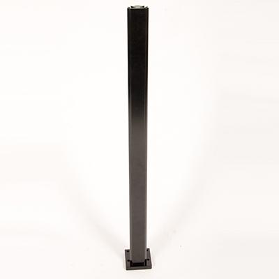 Infinity Glass Balustrade - Inside Corner Post - Black
