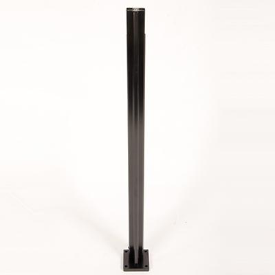 Infinity Glass Balustrade - Intermediate / Mid Post - Black