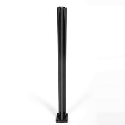Infinity Glass Balustrade - Outside Corner Post - Black