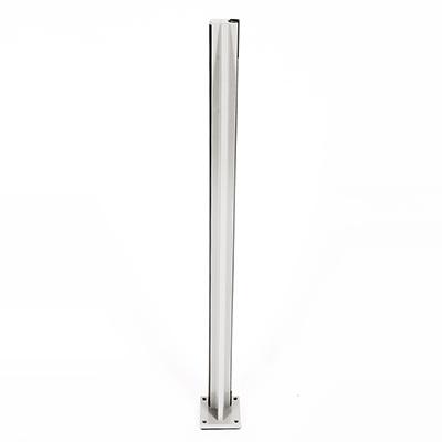 Infinity Glass Balustrade - End Post - Silver Matt