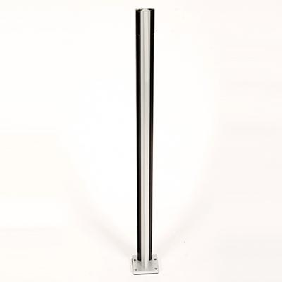Infinity Glass Balustrade - Inside Corner Post - Silver Matt