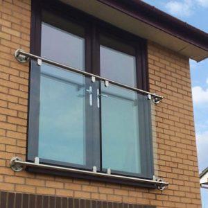 Glass Juliet Balcony - 1.5 metre to 2 metre