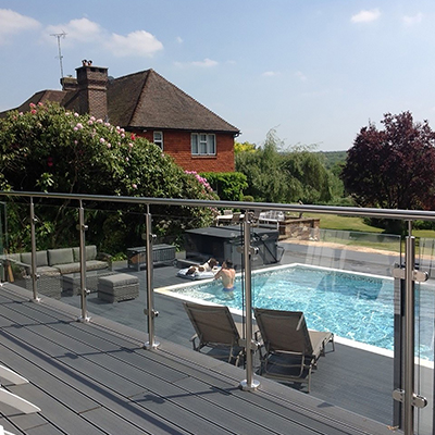 10mm Toughened Glass Panel (per mtr) - Professional/Square Glass Balustrade