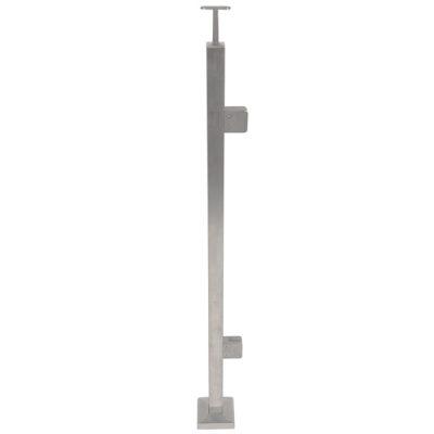 Square Tube Glass Balustrade - End Post