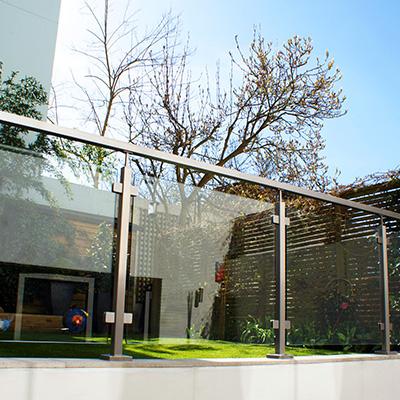 Square Tube Glass Balustrade - Intermediate / Mid Post