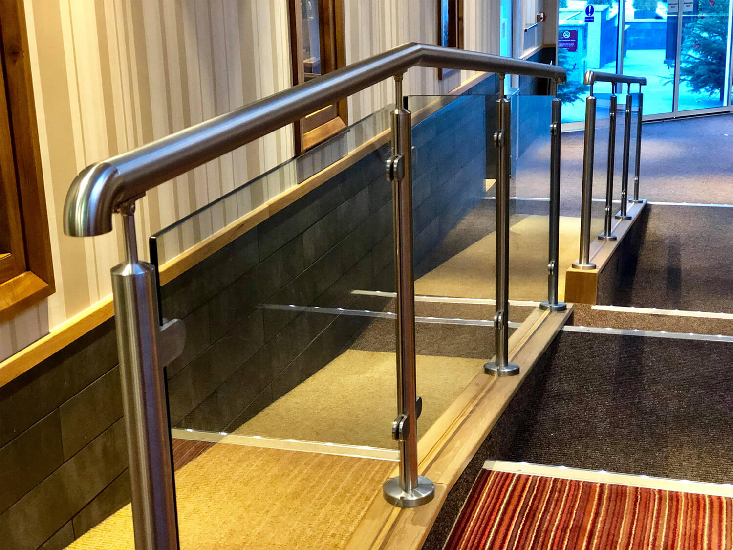 Glass balustrades in care homes