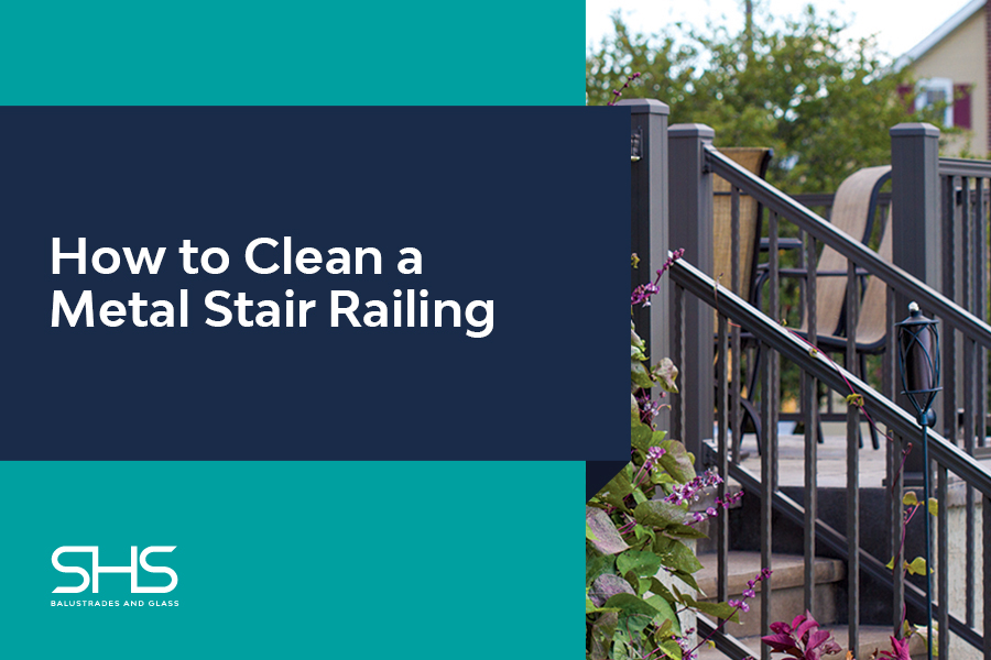 How to Clean a Metal Stair Railing